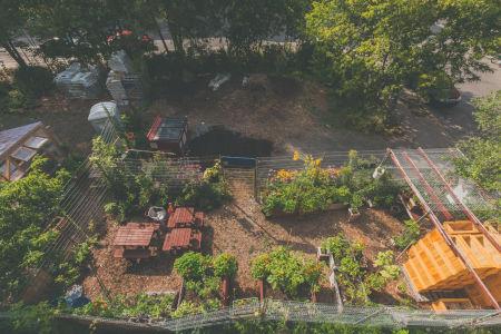 Le plateau de travail - Circuit jardins